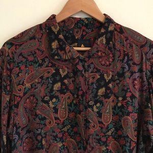 Vintage Liz Claiborne paisley print blouse